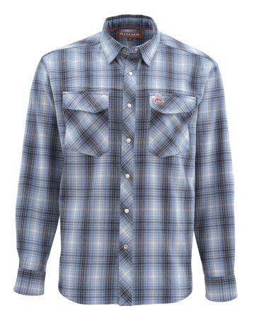 Simms Gallatin Flanel Shirt - Dark Moon Plaid