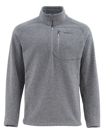 Simms Rivershed Sweater 1/4  Zip - Steel
