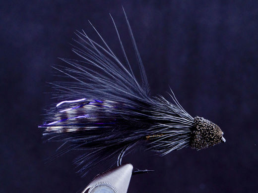 Black Marabou Muddler Streamer