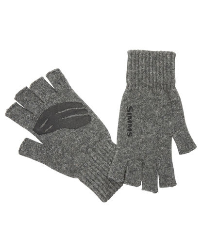 Simms Wool Half Finger Mitt - Steel