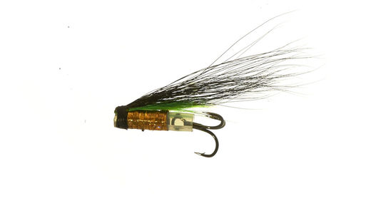 FishMadMan Micro Riffling Hitch V-Fly - Green Highlander