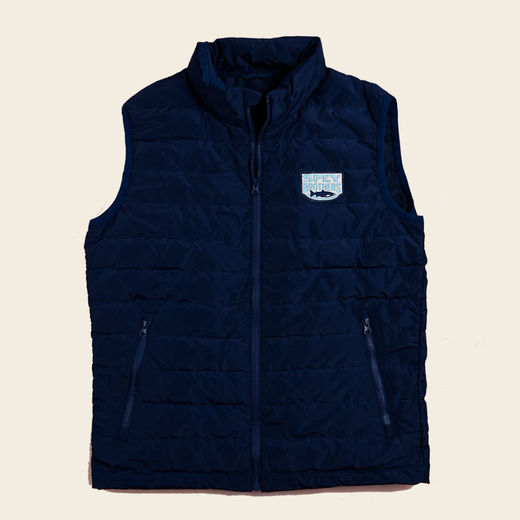 Spey Brothers Down Vest- Navy