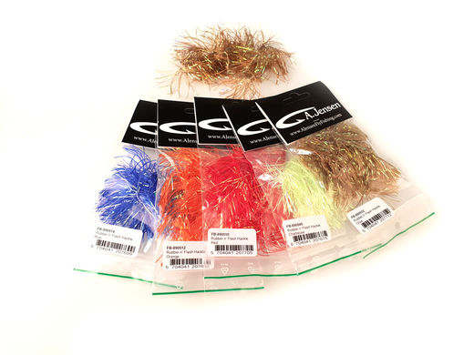 A.Jensen Rubber n' Flash Hackle